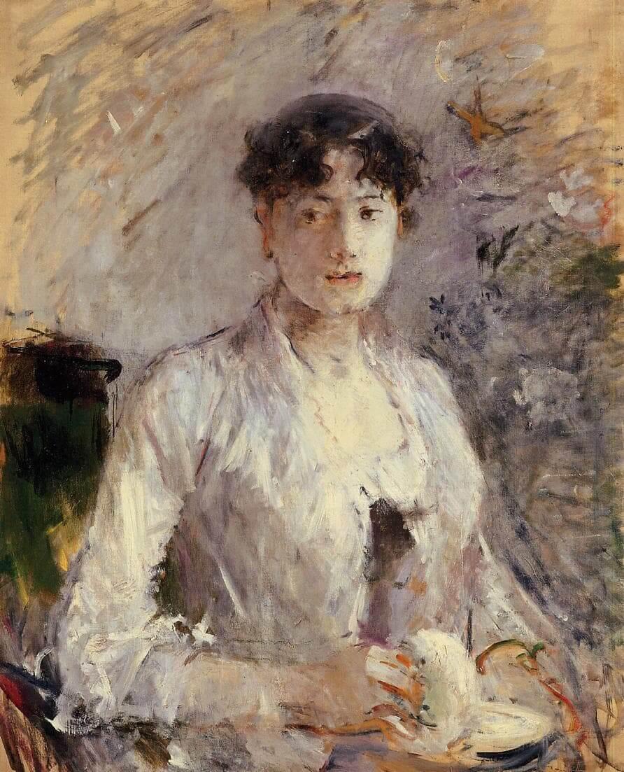 """""""Νεαρή γυναίκα ντυμένη στα Μωβ"""" από Berthe Morisot"""
